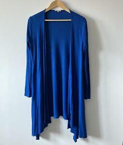Kettlewell blue cardigan size M medium 214 royal wrap waterfall