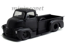 JADA 97461 1952 CHEVROLET COE PICK UP TRUCK 1/24 MATTE BLACK with BLACK WHEELS