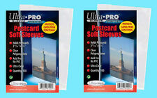 200 ULTRA PRO POSTCARD SOFT SLEEVES 2 Packs Archival Safe Protective Coin Stamp