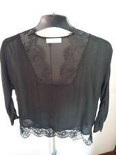 "*Alannah Hill* ""Black & Lace Top Size 10 Silk"
