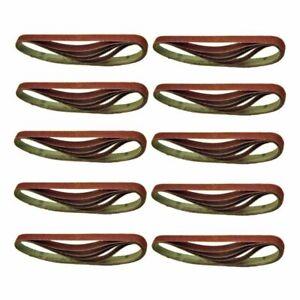 50 Pcs 13mm x 457mm Fine 240 Grit Abrasive Alu Oxide Powerfile Sander Belts
