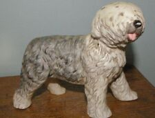 "Vintage Japan Ucci Old English Sheepdog porcelain pottery figurine 4 1/2"" tall"