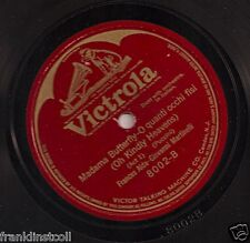 Frances Alda, Giovanni Martinelli on 78 rpm Victor 8002: Boheme Butterfly