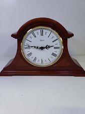 Hermle Desk Clock wood color nice #887