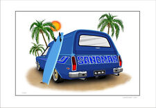 HOLDEN HX HZ SANDMAN PANELVAN SURF VAN LIMITED EDITION CAR PRINT (6 CAR COLOURS)