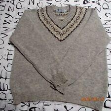 Highland Glen Shetland Wool Fair Isle Sweater Made in Scotland Size 42