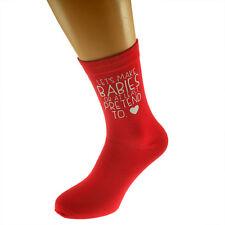 Lets Make Babies Mens Red SOCKS Fun Romantic Christmas Birthday Present Gift