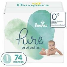 Pampers Pure Protection Natural Diapers, Size 1, 74 ct