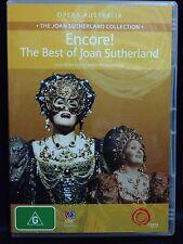 ENCORE! THE BEST OF JOAN SUTHERLAND ~AS NEW DVD ~SYDNEY OPERA HOUSE~PAL REGION 4