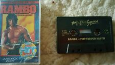 Rambo Video Game Cassette Commodore 64 C64/C128 💜💜💜 FREE POST