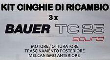 ★KIT CINGHIE DI RICAMBIO 3 x CINE PROIETTORE SUPER 8 mm BAUER TC 25★