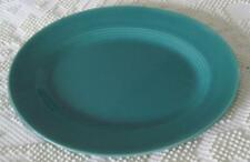 "Homer Laughlin Harlequin Spruce Green 13.25"" Oval Serving Platter"