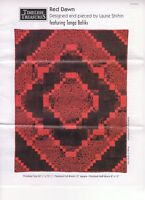 """""""Red Dawn"""" Quilt Kit by Laurie Shifrin for Timeless Treasures. 60.5"""" x 75.5"""""""