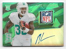 2013 Spectra Green #227 Mike Gillislee Laundry Tag NFL Shield Autograph RC #3/5