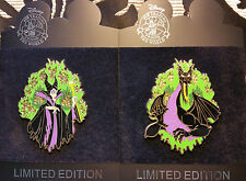 RARE!! DISNEY LE 300 DISNEYSTORE.COM JUMBO MALEFICENT DRAGON FORM 2 PIN SET MOC