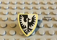 LEGO Knight Minifig Shield Black Falcon w/ Yellow Border 6062 6073 6021 6074