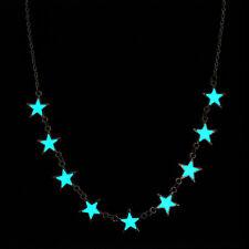 UK GLOW IN THE DARK Star Charm Magic Necklace Silver Jewellery Gift Idea Girls