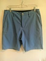 Volcom Mens V4S Hybrid Surf & Turf Stretch Board Shorts Blue size 30