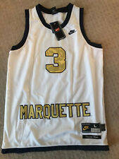 New Nike Dwayne Wade Marquette Basketball Jersey Size Large