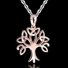 MATERIA Lebensbaum Anhänger Rosegold VITA - 925 Silber Anhänger keltische Knoten