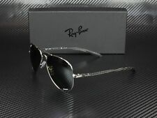 RAY BAN RB8317CH 003 5J Shiny Silver Grey Mir Grey Polarized 58 Men's Sunglasses
