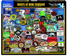 White Mountain Jigsaw Puzzle BEERS OF NEW ENGLAND 1000 piece 24x30 USA Collage