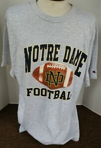 Vintage Champion Notre Dame Football T-Shirt~Unisex XL~Officially Licensed~NWT