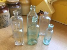 x6 Vintage Named Medicine Bottles c1890's-1920's