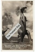 Wwii Brontosaurus Dinosaur Rapid City South Dakota Rppc Rp Sd Dinosaur Park