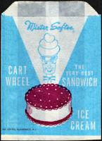 RIDER/'S FROSBITE Vintage Ice Cream Bar Wrapper Bag 1940/'s Danbury CT Rider Dairy