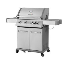 Royal Gourmet BBQ 4-Burner Propane Gas Grill Side Burner Stainless Steel