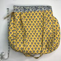 Vintage Pierre Deux French Country Yellow Blue Paisley Handbag Satchel Tote