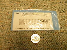 CDS  decals N Dry Transfer N-433 Canadian National 61' wood chip gondola J71