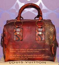 Louis Vuitton Richard Prince MANCRAZY Printemps Jokes Snakeskin LIMITED Bag WOW!