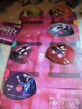 Zumba Fitness Exhilarate 6 Dvd * Join The Party * Plus Toner Sticks