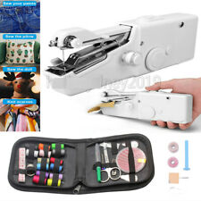 Handheld Sewing Machine Stitch Home Hand Held Cordless Clothes Mini Portable UK
