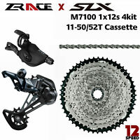 New SHIMANO SLX M7100 groupset 12 Speed 1X12 MTB Group 4 Pcs 46T/50T/52T ZRACE