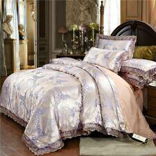 Luxury Bedding Set Satin Jacquard Duvet Cover Sets 1 Quilt Cover+1/2 Pillowcases