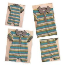 ffred baby boys striped polo shorts romper outftit 0-3 months