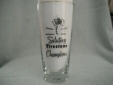 1955 Indianapolis Indy  500 Automobile Drinking Promotional Glass