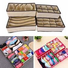 4Pcs Foldable Underwear Bra Fabric Socks Box Storage Organizer Drawer Divider !