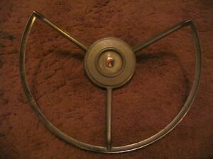 57 1957 58 1958 FORD Fairlane 500 Horn Ring 3 spoke assembly   - NO RESERVE -