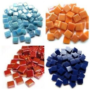 12mm Square Opus Mosaic Tiles in a all Colours and Mixes - 250g bags