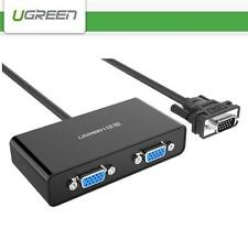 UGREEN VGA 15-Pin Male to 2  Dual Female Video Monitor Splitter Cable