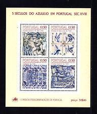 PORTOGALLO 1983 FOGLIETTO CERAMICHE PORTOGHESI NUOVO ** C18