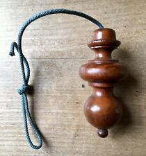 French Antique Open Light Curtain Pull Toggle Turned Wood Old Original