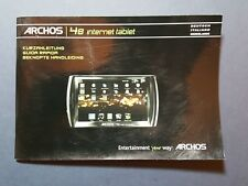Archos 48 Internet Tablet Guide in German, Dutch and Italian