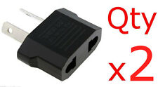 EU US USA to AU Plug Adapter Converter American To Australia New Zealand 2pk