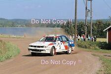 Timo Salonen Mitsubishi Galant VR-4 1000 Lakes Rally 1991 Photograph