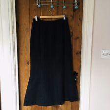 Marilyn Anselm At Hobbs Black Linen Skirt Size 10 Made In England